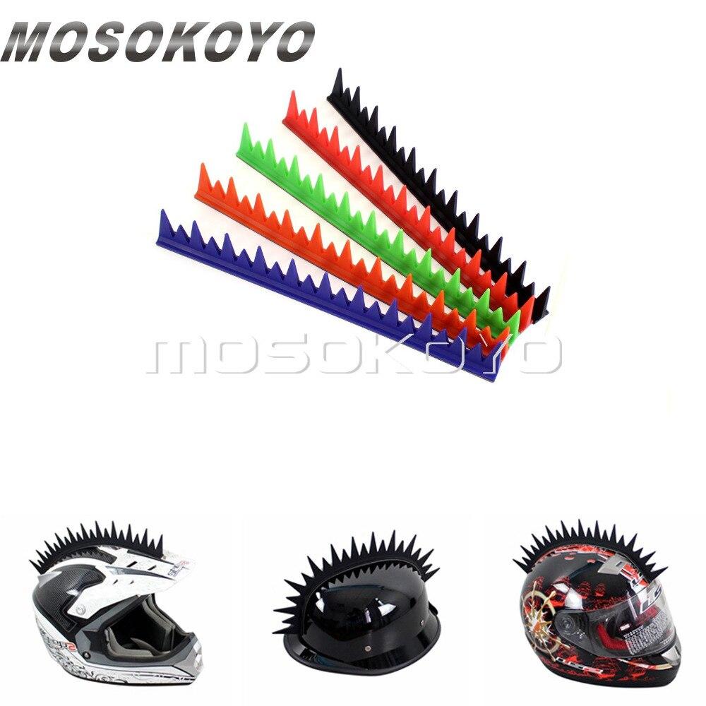 Unebenen Motorrad Biker Mohawk Helm Aufkleber Warhawk Stick Auf 13 Streifen Kühlen Punk Gummi Aufkleber 5 Farbe