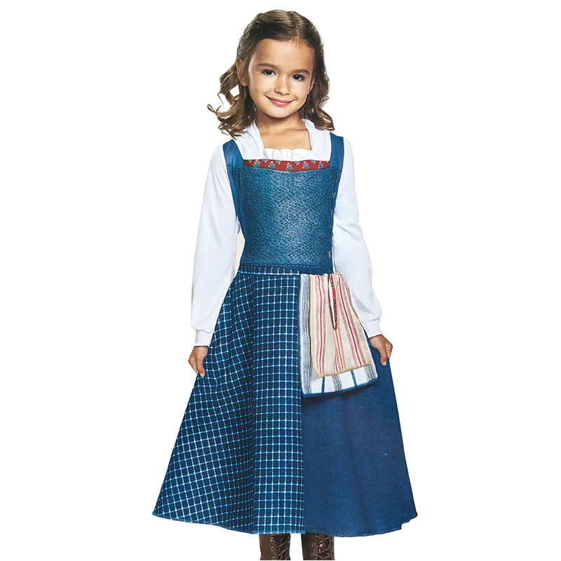girl cartoon beauty and the beast belle costume halloween costumes belle village blue dress for children or adult in girls costumes from novelty special