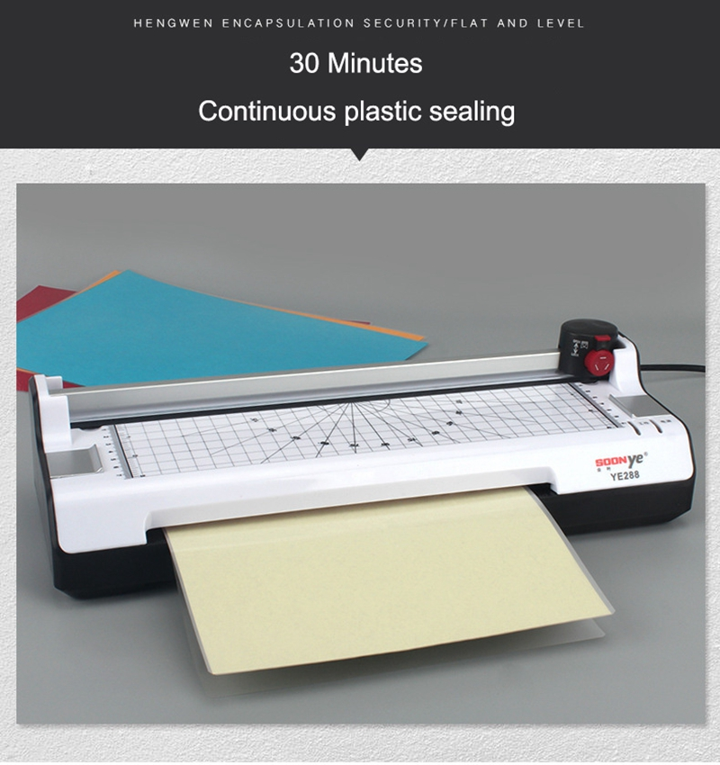 New Sealed Plastic Laminating Machine With Cold And Hot Mounting Key
