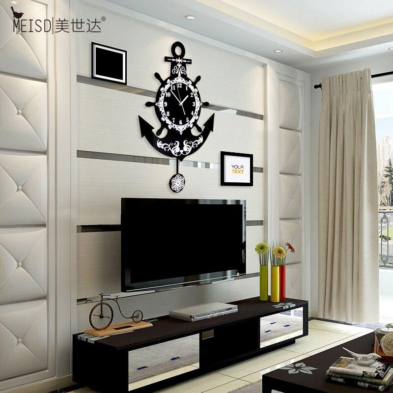The United States Sata Creative Clock Quartz Watch European Modern Minimalist Living Room Decoration Fashion