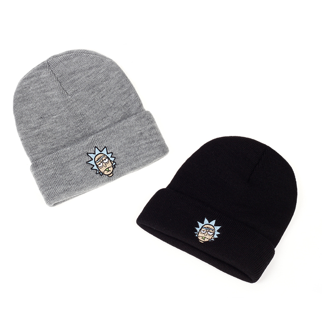 Elastic Brand Embroidery Warm Winter Unisex Knitted Hat 5