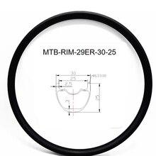 Графен 29er карбоновые mtb диски бескамерные диски 30x25 мм внутренняя ширина 25 мм карбоновый обод МТБ велосипедные диски XC 380 г