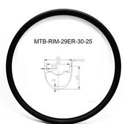 Grafen 29er karbon mtb felgi bezdętkowe bezdętkowe 30x25mm szerokość wewnętrzna 25mm obręcze węglowe mtb obręcze rowerowe XC 380g w Felgi od Sport i rozrywka na