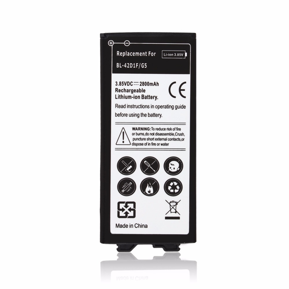High Quality 3.7V 2800mAh BL-42D1F 3.85VDC Replacement Li-ion Battery For <font><b>LG</b></font> <font><b>G5</b></font> Batterie <font><b>Bateria</b></font> Batterij image
