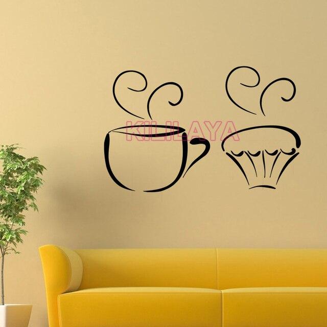 Stickers Coffee Tea Cup Cupcakes Vinyl Wall Sticker Decals Murals ...