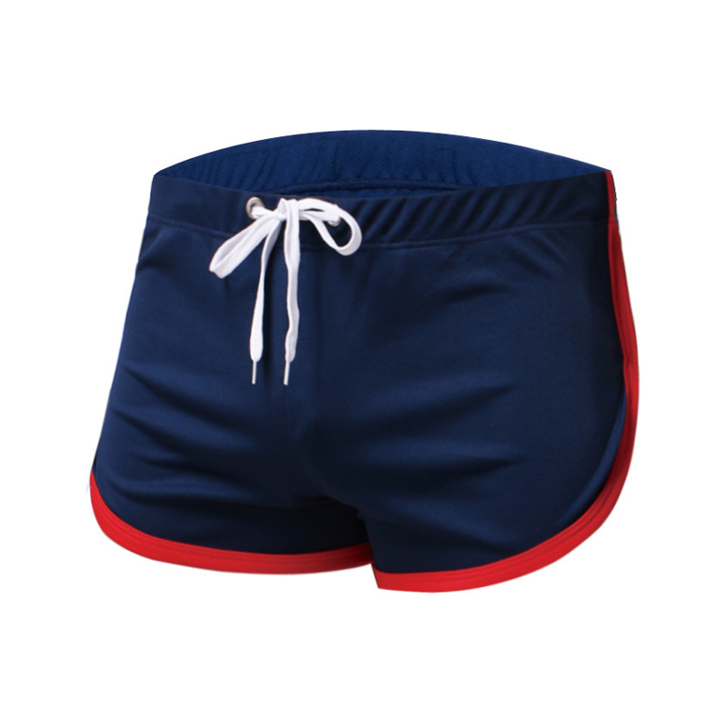 Summer Men Sport Running Shorts Training Gym Fitness Sweatpants Breathable Quick Dry Sides Split Jogging Elastic Pouch Trousers