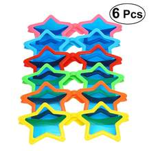 6pcs Star Sunglasses Funny Party Favor Photo Prop for Carnival Masquerade Halloween Costumes Party Cosplay(China)