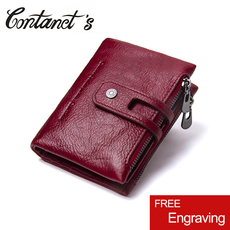 2018 New Design Vintage Purse Genuine Leather Women Short Style Wallet Hasp Wallet Zipper Purses Card Holder High Quality 2017 new casual women leather wallet zipper long hasp thin wallet purses card holder high quality ladies clutch coin purse