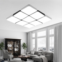 Modern simple atmosphere rectangular living room bedroom remote LED ceiling lamp office lamp super light