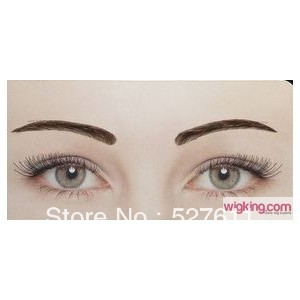 ФОТО 1 pair real fake eyebrow hair  for women 100% human hair for eyebrows