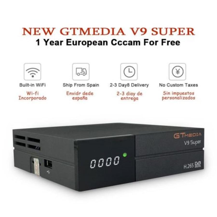 GTmedia v9 super satellite tv receiver form Spain 1 year Europe cccam 6 clines 1080 FHD best Poland Germany Spain paytv decoder in Satellite TV Receiver from Consumer Electronics