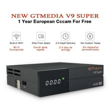 GTmedia v9 super satellite tv receiver form Spain +1 year Europe cccam 6 clines 1080 FHD best Poland Germany Spain paytv decoder