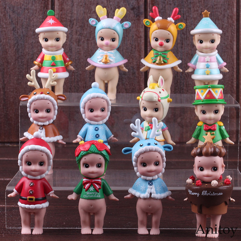 Sonny Angel Figures Christmas Series 2017 / 2018 Mini PVC Figures Collectible Model Toys for Children 6pcs/set sonny angel summer series caribbean sea version mini pvc action figures collectible model toys 6pcs set 8cm