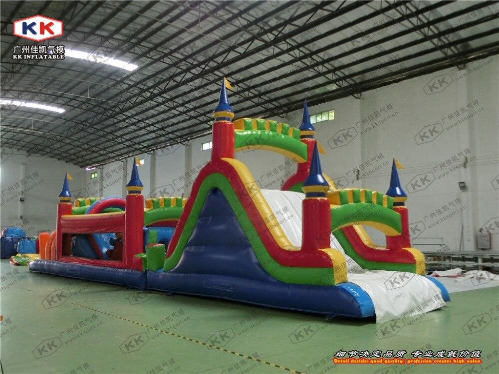 Parcours d'obstacles gonflable géant à vendre dernier parcours d'obstacles gonflable géant adulte moderne