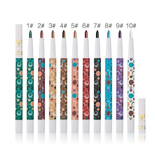 Brand Huamianli 10Colors can choose Eye Shadow Pigment Kit Waterproof Shimmer Matte Eyeshadow Pencil net 0.6g 10pcs/lots