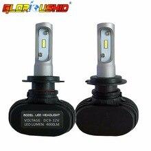 Пара супер яркий H7 светодиодные фары автомобиля лампа автомобильных фар замены лампы 6500 К белый свет