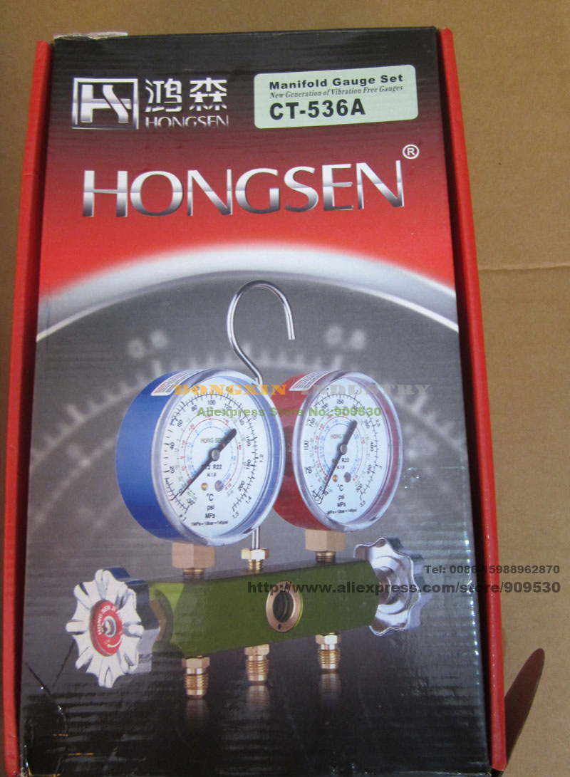 ФОТО Automobile refrigerant charging manifold gauge CT-536A For R134 Car charging gauge collector