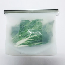 1PCS 1000Ml Reusable Silicone Food Bags Ziplock Bag Best For Preserving And Cooking Sandwich Sous Vide Liquid Snack Fruit Seal(China)