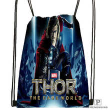 Custom Marvel thor Drawstring Backpack Bag Cute Daypack Kids Satchel (Black Back) 31x40cm#2018612-02-14