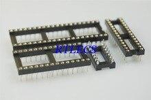 50 Stuks Ic Socket 6 8 12 14 16 18 20 22 24 28 32 40 48 Pin Dip Gefreesd pin Socket Ronde Mouw Innerlijke 0.5 Mm Door Gaten Tin
