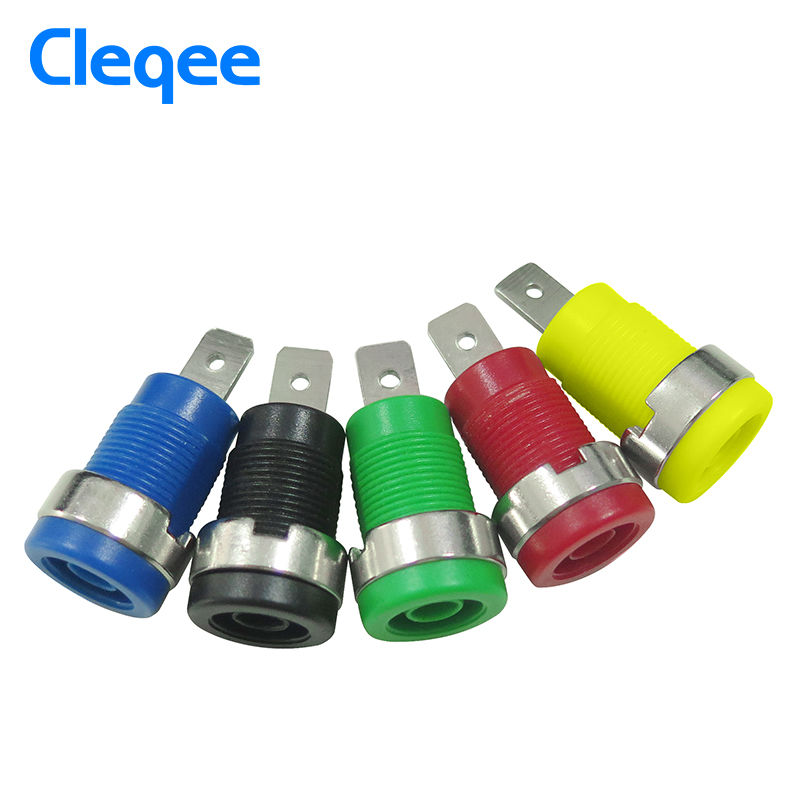 Cleqee P3007 10pcs / set 5 Color 4mm Niquelado Enchufe Post Banana - Instrumentos de medición - foto 3