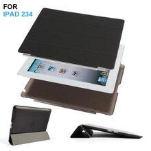 Batianda delgado de cuero pu ultra delgado plegable magnético delantero smart cover piel + cáscara dura de la pc volver case para ipad 2 3 4 ipad3 ipad4
