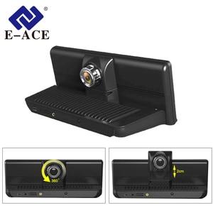 Image 4 - E ACE E14 voiture DVRs 4G Android 8.0 pouces Dash Cam 1080P enregistreur vidéo GPS Navigation ADAS Dashcam avec caméra de vue arrière Dvr automatique