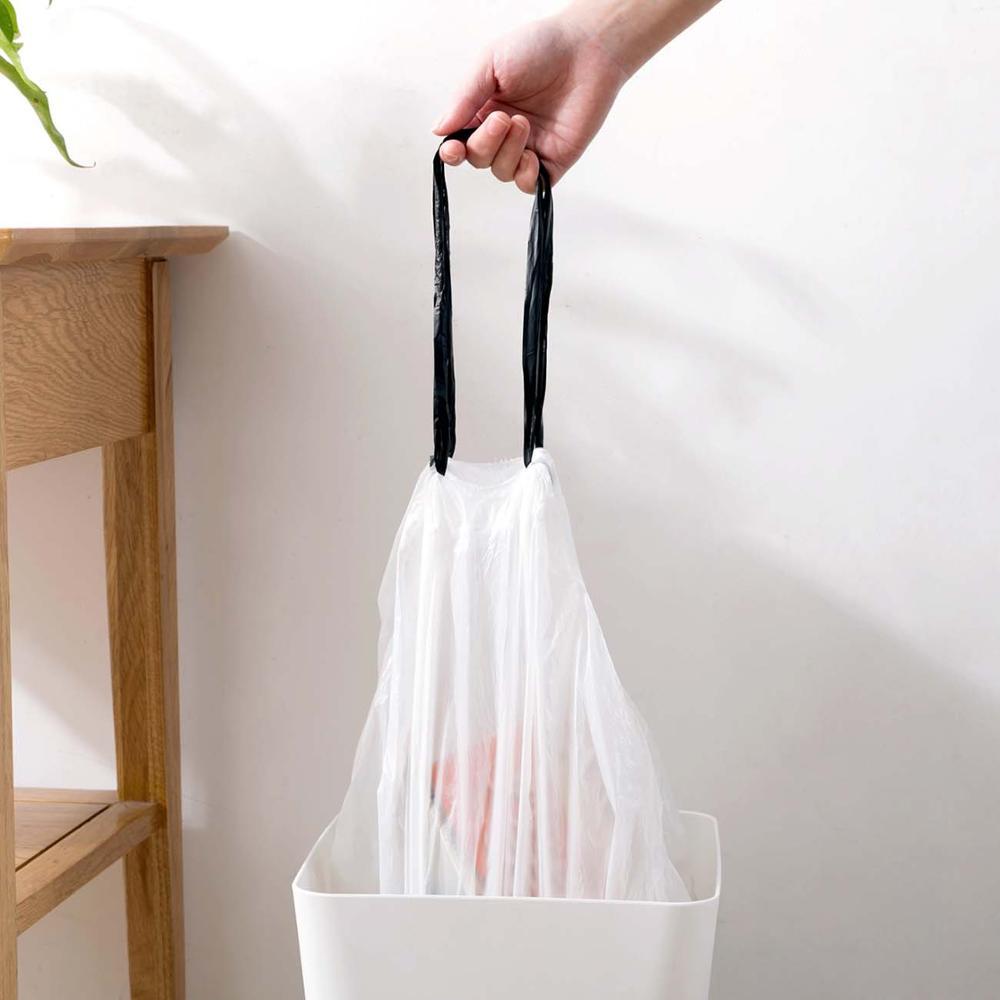 100/60PCS Disposable Garbage Bags Drawstring Kitchen Trash Bag Portable Disposable Household Plastic Bag