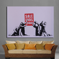 Graffiti Art Sale End Today By Banksy Cuadros Decoracion Street Art Painting For Home Decoration Wall