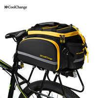 CoolChange 自転車ラックバッグ反射自転車後部座席荷物バッグサイクリング旅行バッグラックパニア防水レインカバー