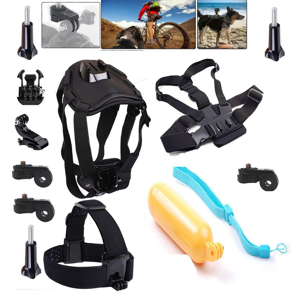 Accessories Dog Mount Floating Monopod Kit for Sony Action Cam AS20 AS200V AS15 FDR-X1000V W 4K AS30V AS100V AZ1 Mini Xiaomi yi