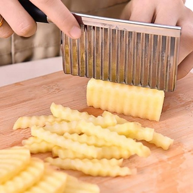 Potato Wavy Edged Knife Stainless Steel Kitchen Gadget Vegetable Fruit Cutting Tool Kitchen Accessories French fries machine-in Other Utensils from Home & Garden on Aliexpress.com | Alibaba Group