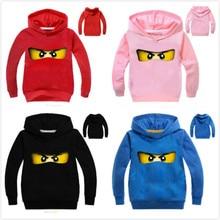 Boys Sweatshirts Legoes Hooded Ninjago Long-Sleeves Toddler Children Spring Girls Baby