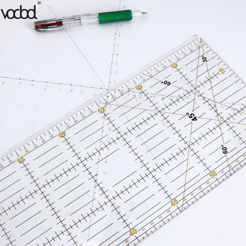 DIY Handarbeit Patchwork Füße Schneider Quilten Werkzeuge Acryl Material 60*15 cm Patchwork Mess Lineal Naht Nähen Skala Herrscher