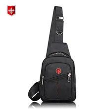 a066c773ee6ed1 Schweizer Mode Oxford Umhängetasche Mehrzweck Brust Pack Schlinge  Umhängetaschen für Männer Casual Schräge Querpaket 2017 Neue