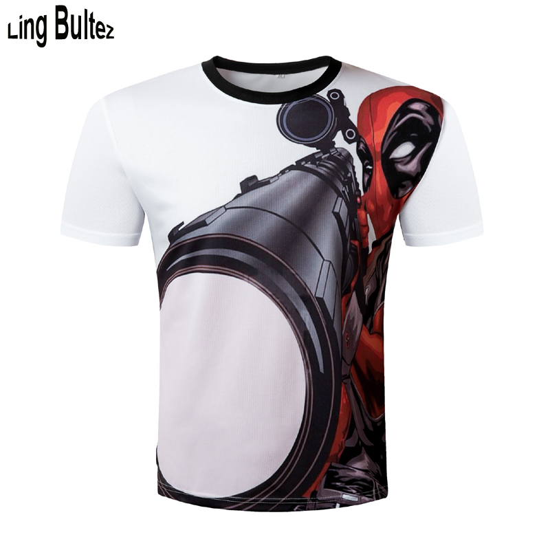 Ling Bultez Compression Shirts Deadpool 3D Printed T shirts Men NEW Crossfit Tops For Male Fitness BodyBuilding Clothing