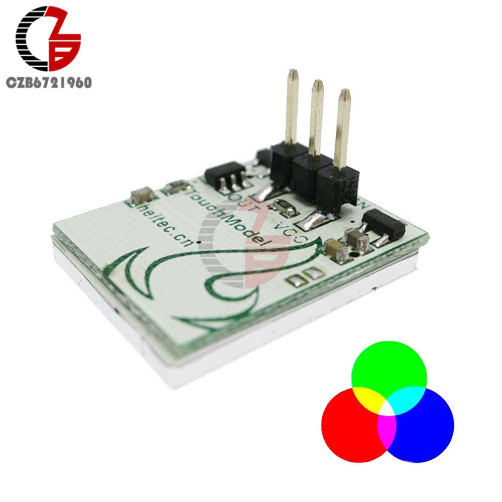 Interruptor táctil capacitivo botón RGB LED Sensor interruptor módulo HTTM DIY tablero electrónico Multi Color Anti-interferencia 3 V 5 V 6 V
