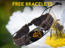 Lovely Bee Leather Handmade Bracelets