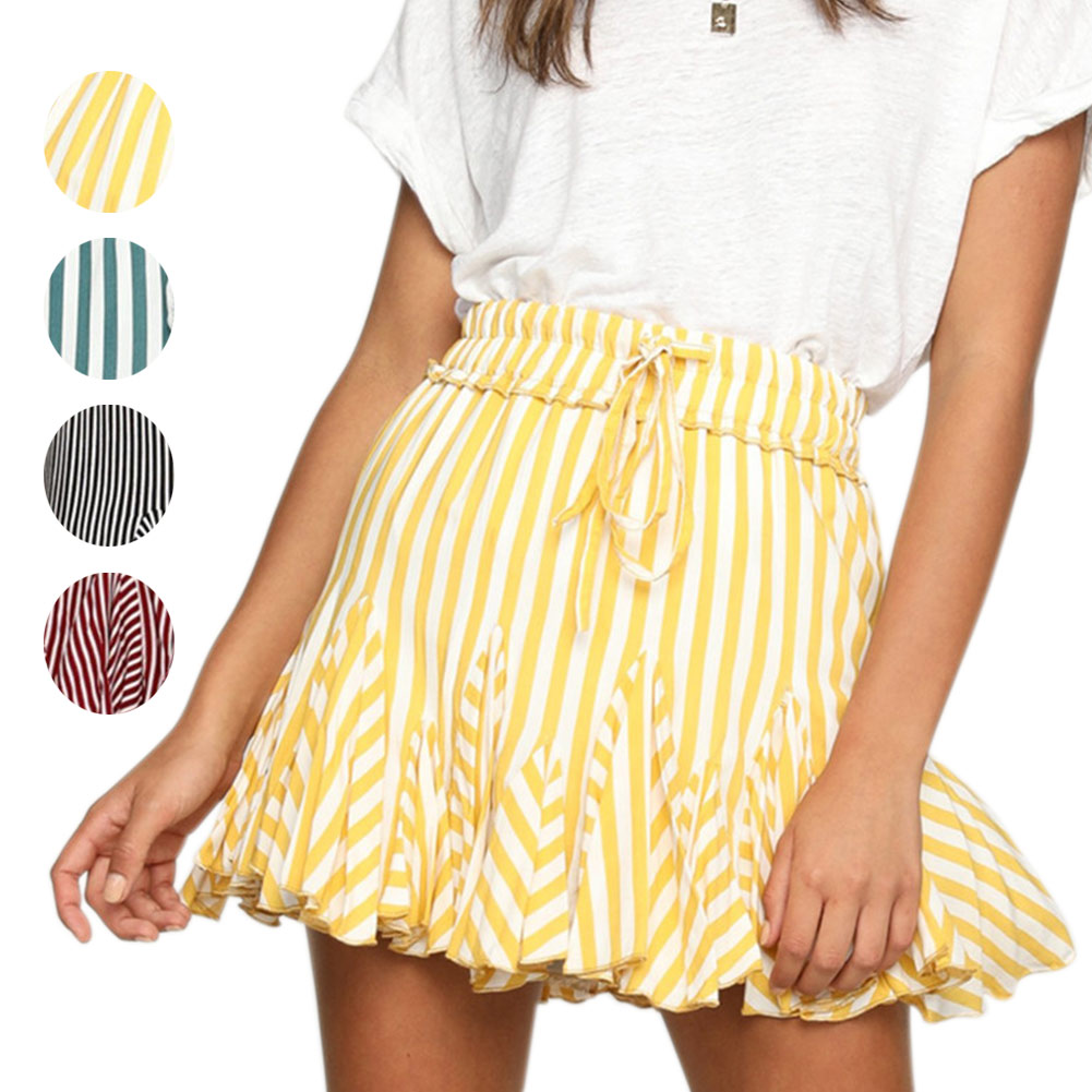 Skirts striped for summer