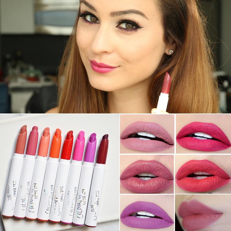 Lip Makeup Nude Matte Lipstick Lote Maquillaje Waterproof Lip Tint <font><b>Lippie</b></font> Red Lip <font><b>Stick</b></font> Pen Beauty Baton