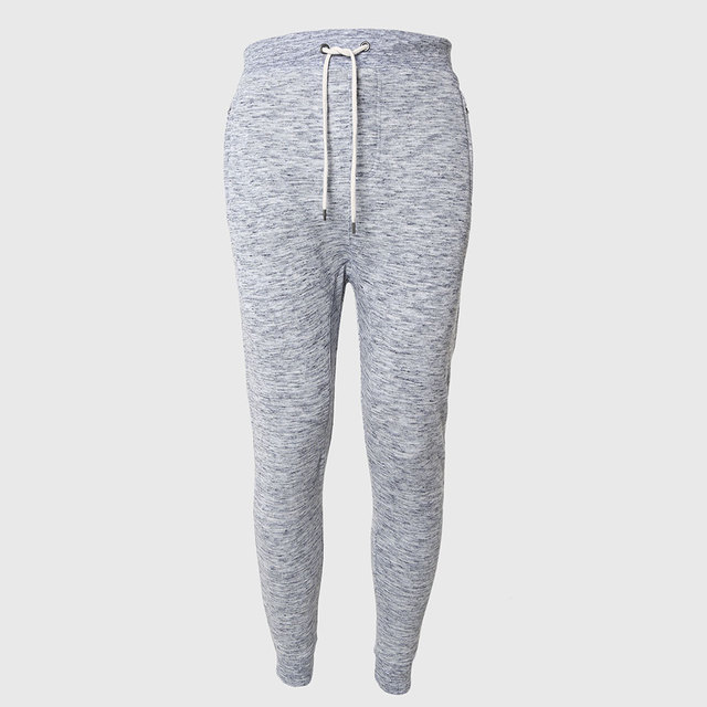 Men Tapered Pencil Pants Terry Zipper Trousers Solid Sweat Bottoms Casual Trend Wear Hip Hop