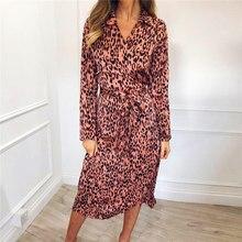 Women Leopard Dress 2019 Sexy Bandage Party Long Dresses Vin