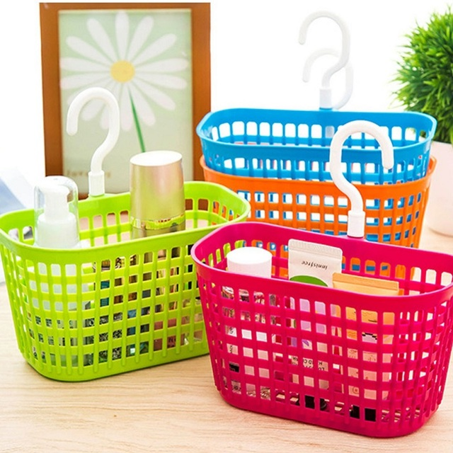 1 Pc 18.3*9*10.5 cm 4 di Colore di Plastica Bagno Basket Holder Detergente Shamp