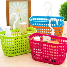 1Pc 18.3*9*10.5cm 4 Color Plastic Bathroom Basket Holder Cleanser Shampoo Container Cosmetic Seasoning Organizer Portable Tool