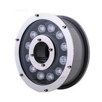 12 W RGB/לבן/לבן חם מנורת LED בריכה שחייה מתחת למים אור מזרקת מנורת זרקור עם שלט רחוק AC12V