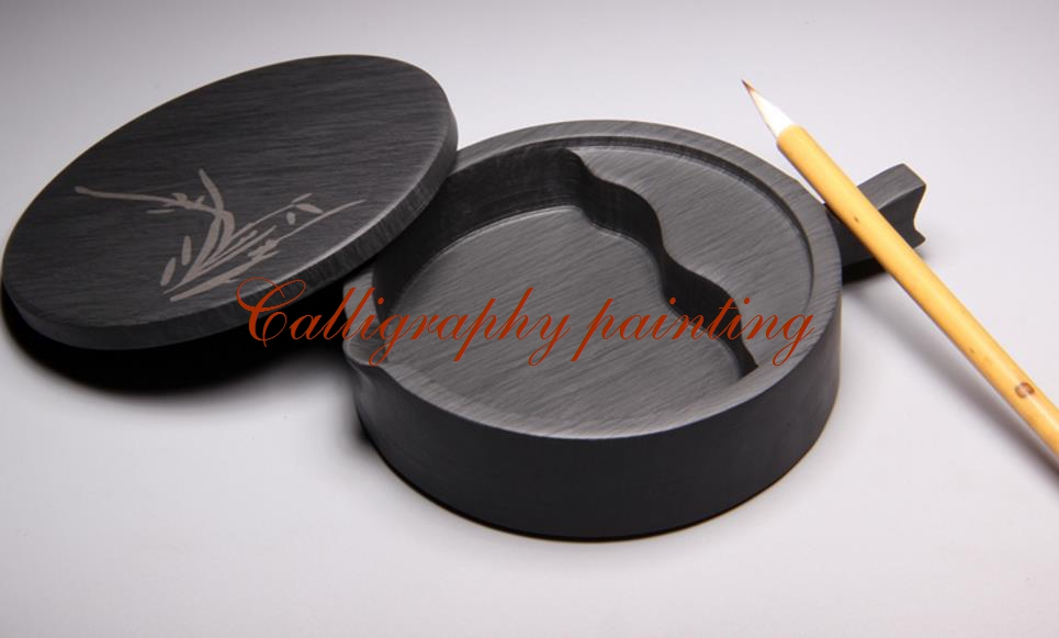 She Ink Stone Brush Rest With Lid Inkstone Calligraphy Painting Tool