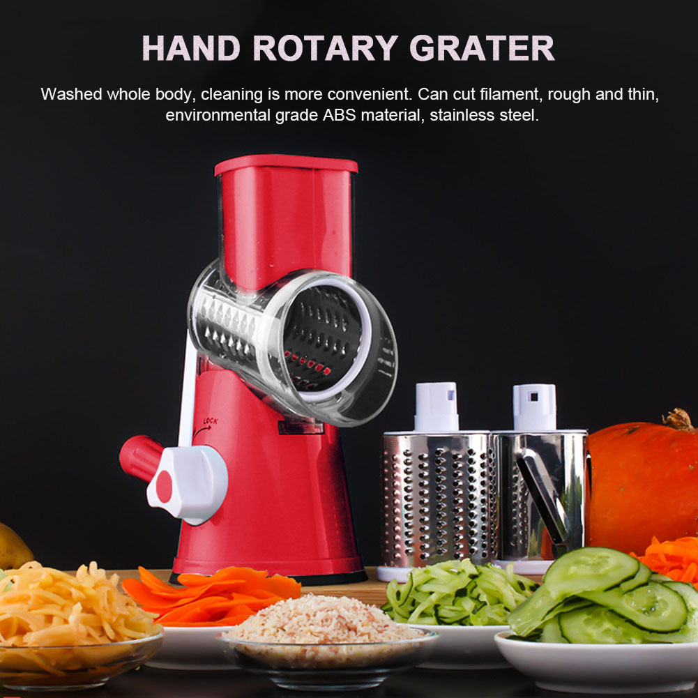 뜨거운 새로운 다기능 쵸퍼 수동 회전 강판 야채 과일 커터 주방 도구 hy99 no12