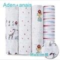 Аден анаис Детское одеяло и пеленание 120X120 см один слой многофункциональный ребенка полотенцем новорожденного одеяла и пеленать