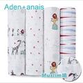 Aden anais Baby blanket & swaddle 120X120cm single layer multifunctional baby towel newborn Infant blankets & swaddle