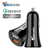 TIEGEM Universal 36W Fast Charging USB Car Charger with Dual Port Car-Charger for iPhone Samsung Portable Mobile Phone Charger
